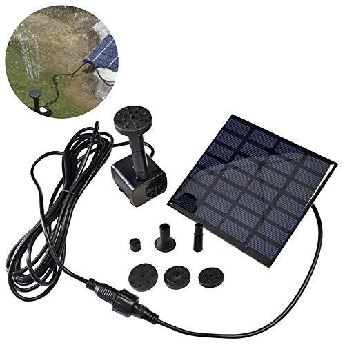 LARS360 Solar Teichpumpe Outdoor Wasserpumpe Solar Springbrunnen Solarpumpen Gartenpumpe für Gartenteich 12W Platz