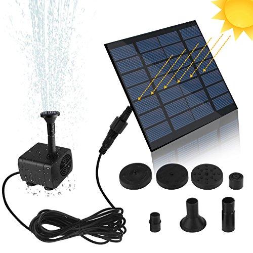 SunTop Mini Solar Springbrunnen Garten solar fontäne 7V 12W Bürstenlose Solarpumpe Solar Wasserspiel Springbrunnen Fontäne PumpeMonokristalline Solar Panel solarpumpe springbrunnen