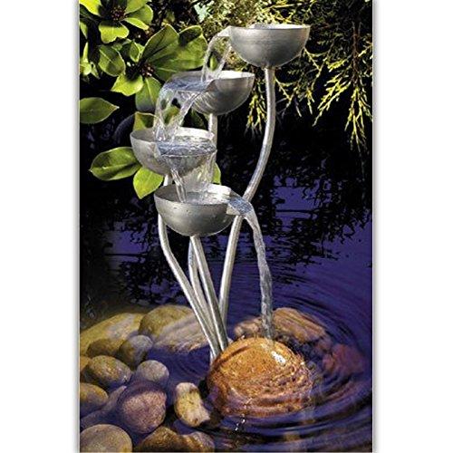 007 Kaskadenbrunnen FALLER Wasserspiel Säulen aus Edelstahl Gartendekoration