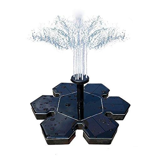 ThreeCat Solar springbrunnenSolar wasserspiel mit 14 W Schwimmende Solar Wasserpumpe Fontäne Pumpe für Gartenteiche Fisch-Behälter Vogel-Bad und Kleiner TeichAquarium Garten Dekoration usw