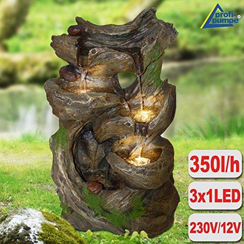 Gartenbrunnen Brunnen Zierbrunnen Zimmerbrunnen Brunnen Märchenwald mit LED-Licht 230V Wasserfall Wasserspiel für Garten Gartenteich Terrasse Teich Balkon Sehr Dekorativ