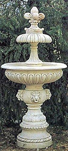 Brunnen Gartenbrunnen Zierbrunnen fountain Valencia Farbe sandstein