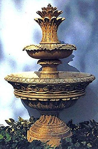 pompidu-living Brunnen Gartenbrunnen Zierbrunnen fountain St Tropez Farbe sandstein