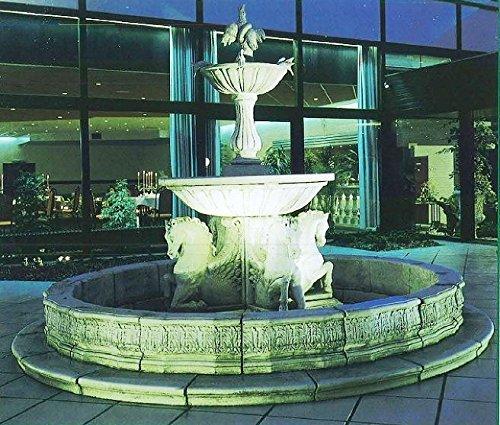 pompidu-living Brunnen Gartenbrunnen Zierbrunnen fountain Vivaldi Farbe sandstein