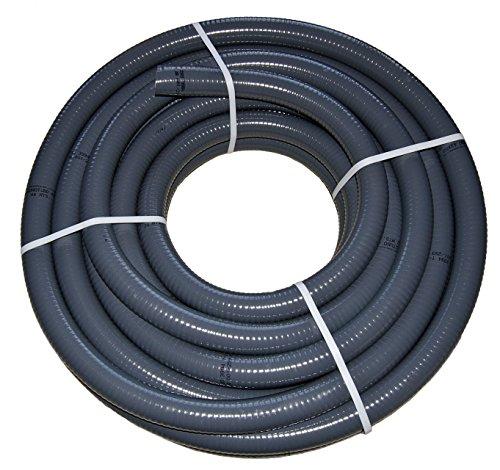 PVC Flexschlauch Klebeschlauch Teichschlauch Poolflex Aussendurchmesser 50mm 10m Rollen für Schwimmbad Pool Teich