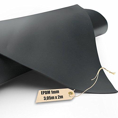 Firestone EPDM Kautschuk-Teichfolie Pondgard 1mm in 305m x 2m