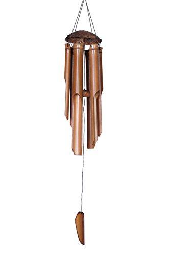 Ciffre 100cm Großes Windspiel Klangspiel Feng Shui Garten Wetterfest Bambus Kokosnuss