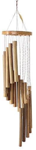 budawi Windspiel Bambus spiralförmige Klangspiele aus feinem Bambus Holzklangspiele