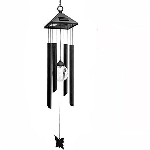 HomeYoo LED Solar Wind Glockenspiel 7 LED wechselnde Lichtfarbe wasserdicht Weihnachten Windspiele Xmas Deer Light String Nacht Garten Lichte Für HausPartynacht Garten Dekoration