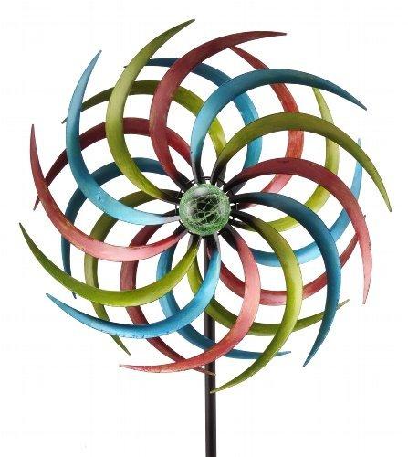 Solar-Windrad ArtFerro Windrad Solar Sonne Windspiel Gartendeko Deko Metall