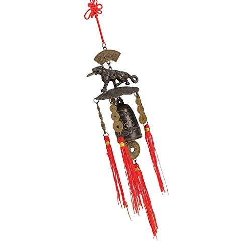 Sharplace Chinesisch Metall Windspiel Klangspiel Glücksbringer Glocke Feng Shui Deko für Balkon Garten - 2