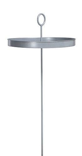 LA SIESTA Mesero Silver - Hängematten-Tisch aus pulverbeschichtetem Stahl