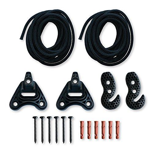 LA SIESTA - Universal Rope Black - Multizweck-Befestigung für Hängematten