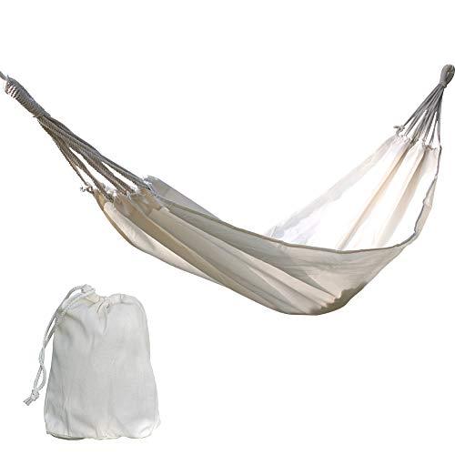 Baumwolle Hängematte Schaukel Bett Camping Indoor Outdoor Heavy Duty leicht handgewebte tragbare natürliche weiß