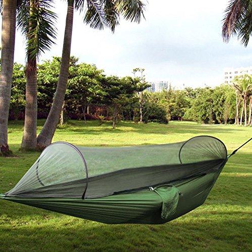 CONMING Camping Hängematte Mosquito Netz Outdoor Hängematte Zelt Reisen Bett leichte doppelte Fallschirm Stoff Hängematte für für Outdoor Strand Camping Wandern Backpacking Hinterhof