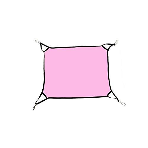 Mein Ji Haustier Hängematte wendbar 2 Seiten Katzen Hängematte Bed Verwendung der Käfig oder Kommode Haustier Hängematte Bett schlafen und ruhen Hängematte auf Kätzchen Hühner Kaninchen Hase Rosa