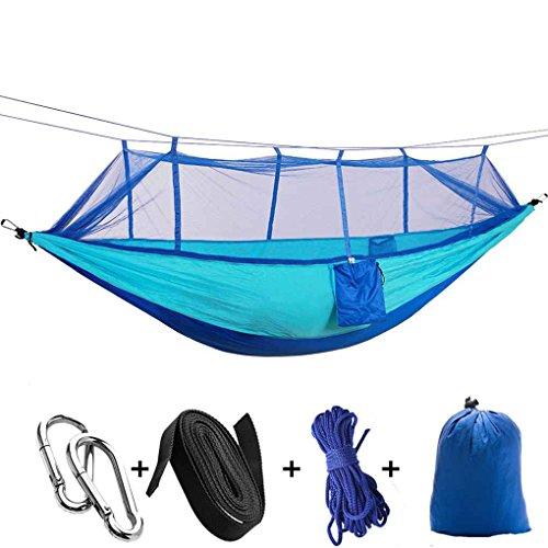 Republe Parachute Stoff Moskitonetz schlafen Hängematte 2 Person Anti-Moskito-Bissen hängendes Bett im Freien kampierende Jagd Hammock
