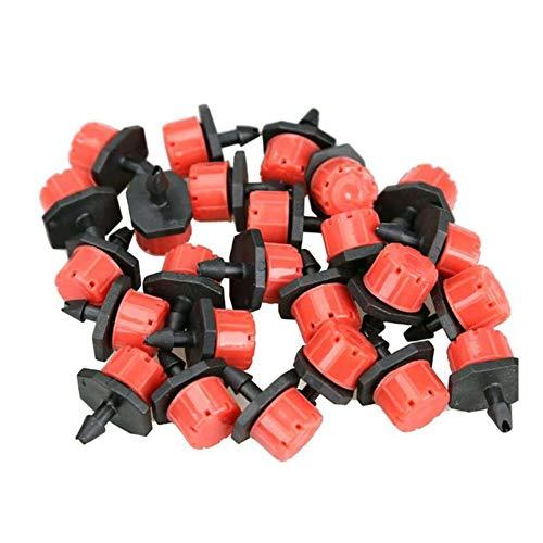 SAIYU Kunststoff Tropf Sprinkler 100 Stück Emitter Tropfer Einstellbare Micro Tropfbewässerung Bewässerung Tropf Sprinklerr