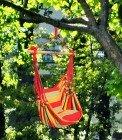 VARILANDO Hängesessel Holiday Sitzschaukel Gartensessel zum Aufhängen rot