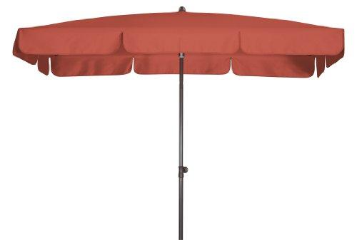 Absolut wasserdichter Gartenschirm Waterproof 225x120 von Doppler mit UV-Schutz 80 Farbe terra-cotta