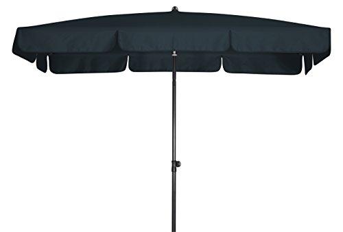 Absolut wasserdichter Gartenschirm Waterproof 260x150 von Doppler mit UV-Schutz 80 Farbe anthrazit