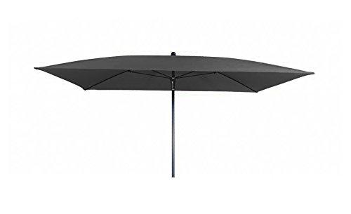 Doppler Absolut wasserdichter Gartenschirm Waterproof 225x120 ohne Volant UV-Schutz 80 Farbe anthrazit