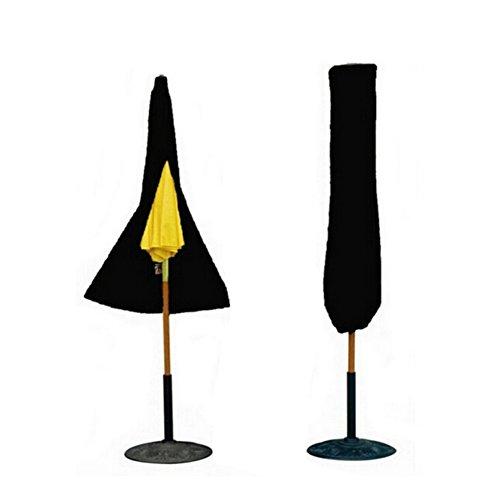 Cheerfulus Schutzhülle für Sonnenschirm Wasserdichte Atmungsaktives Polyester Ampelschirm AbdeckungSchutzhülle für 2 m SonnenschirmSchwarz