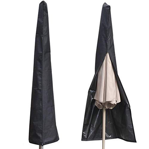POAO Schutzhülle für Ampelschirm 210D Nylon Wasserdichtes Sonnenschirmhülle Abdeckhauben für Sonnenschirm für Schirm 2 bis 3 m Abdeckung mit Reißverschluss und Zugkordel Schirmhülle