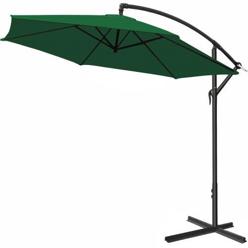 Deuba Alu Ampelschirm Ø 300cm • grün • mit Kurbelvorrichtung • Aluminium • Wasserabweisende Bespannung - Sonnenschirm Schirm Gartenschirm Marktschirm