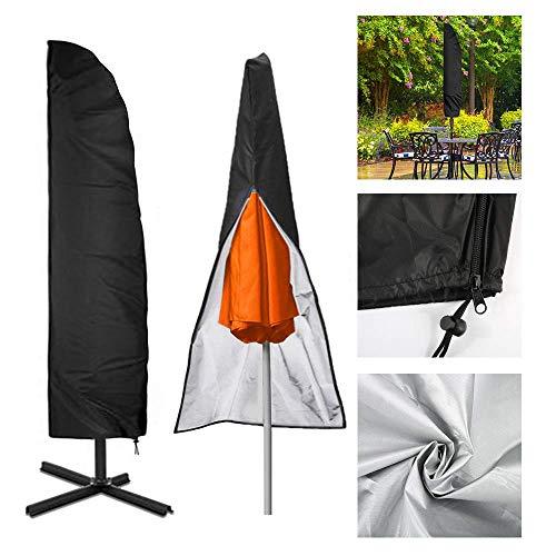 Chengtao Sonnenschirm Abdeckung Outdoor Ampelschirm Schutzhülle Schwarz 210D Nylon Wasserdichtes Sonnenschirmhülle Regenschirm Abdeckung Abdeckhauben bis 2-4M