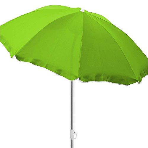 Mojawo Strandschirm Sonnenschirm Strand Schirm Sonnenschutz Gartenschirm Sonnenschutz knickbar Polyester lime grün Ø2m UV Schutz
