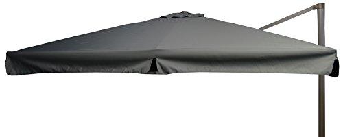 beo Sonnenschirme wasserabweisend ohne Standfuß Sonnenschutz eckig 3 x 3 m grau