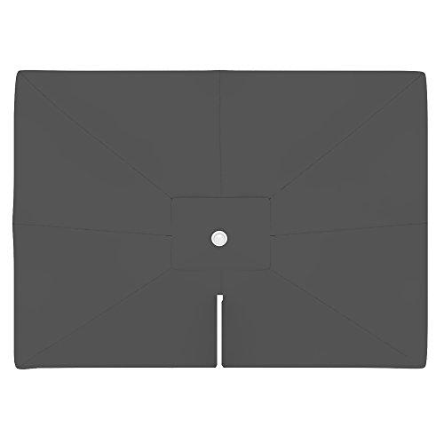 paramondo Sonnenschirm Bespannung ink Air Vent für parapenda Ampelschirm 4 x 3mrechteckig grau