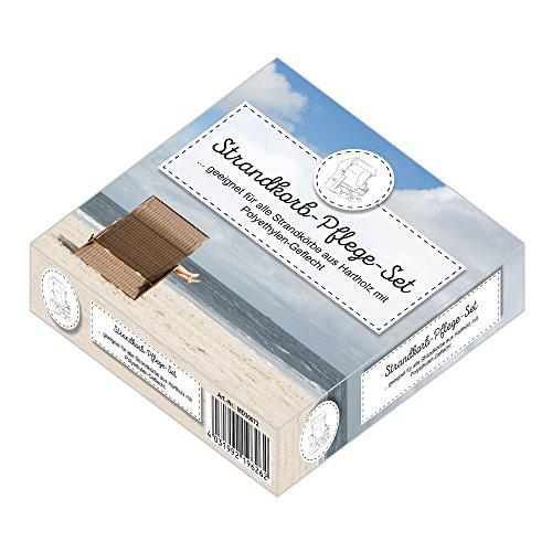 Mr Deko Strandkorb Pflege- und Reinigungsset für Hartholz Strandkörbe - Politur - Holz - Teak - Mahagoni - Schmutz - Lebensdauer