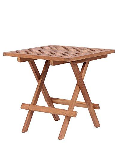 Mr Deko Teak Beistelltisch Devon - Teak - Tisch - Gartentisch - Outdoormöbel - Teakholz - für Balkon Terrasse Wintergarten Garten