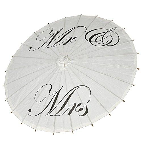 icase4u Hochzeitsschirm Deko schirm Sonnenschirm Spitze Romantische Party Foto Requisiten Regenschirm Brautschirm Umbrella Spitzenschirm für die Hochzeit Mr&Mrs