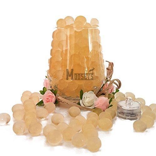 Luxus Mooseys 20g Bio Gel Wasser Wasserperlen Mit LED Licht für Hochzeitsparty Tisch Tafelausatz Dekoration - Gold