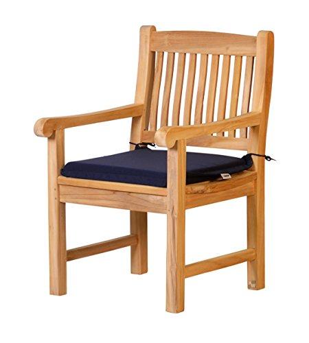 Kai Wiechmann Auflage Skandinavia für Gartenstuhl aus lichtechten Dralon 50 x 45cm maschinenwaschbar dunkel blau Polster für Gartenstuhl Sessel Kissen