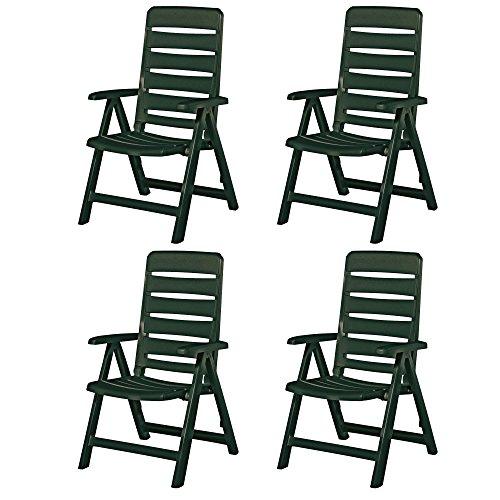 4 Kettler Nizza Gartenstühle Sessel Gartenmöbel Klappsessel in grün