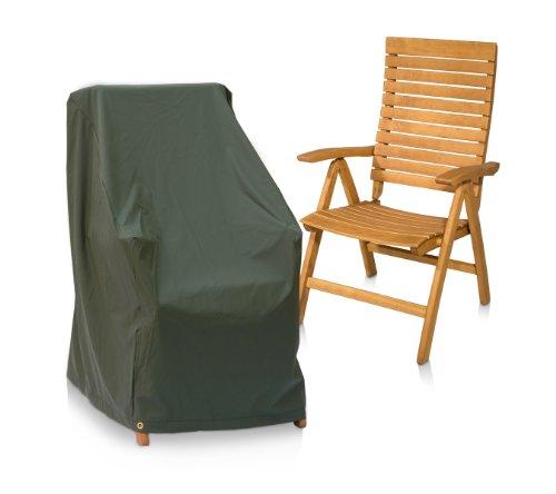 Eigbrecht 146255 Wood Cover Abdeckhaube Schutzhülle für Hochlehner Sessel grün 63x63x10065cm