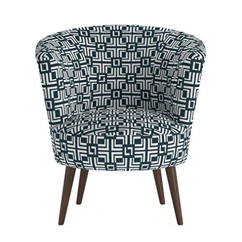 Jellywood MCRAL Polster LoungestuhlSessel mit ArmlehnenHolzbeinefüßeDicke Polsterung mit FederungSitzhöhe 43 cm Grün