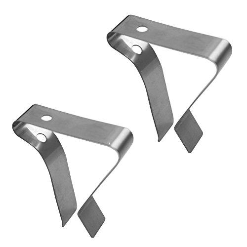 Lantelme 6625 Set Edelstahlclip Grillclip für Befestigung - Anbringung von Thermometer - Edelstahl Clip 2 Stück