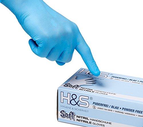 100 Nitrilhandschuhe Gr XL10 blau Einweghandschuhe Einmalhandschuhe