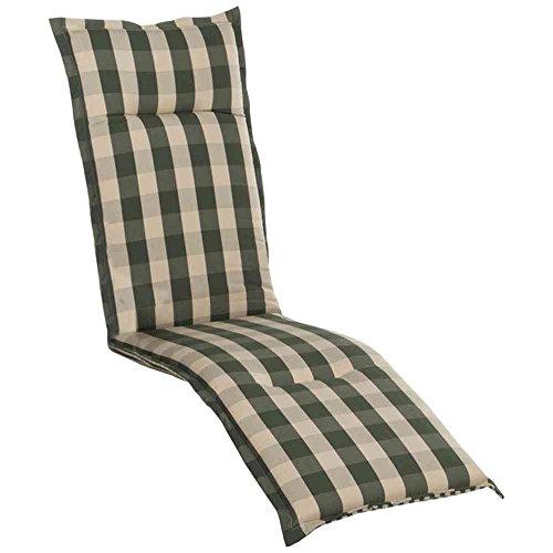 Auflage Kent für Deckchair 190x46x8 cm grün 100 Polyacryl