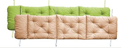 Meerweh Auflage Deckchair für Liege Wendekissen Polsterauflage Kissen grün 1950x490x100 cm 74097