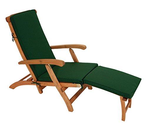 Polsterauflage DENVER für Deckchair oder Liegestuhl 176cm dukelgrün