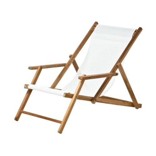 Maxx Deckchair Liegestuhl Kunststoffgewebe - weiß