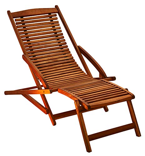 SAM Gartenliege Fuki aus Akazie Sonnenliege aus Holz FSC 100 zertifizierter Liegestuhl Deckchair geölt massives Gartenmöbel