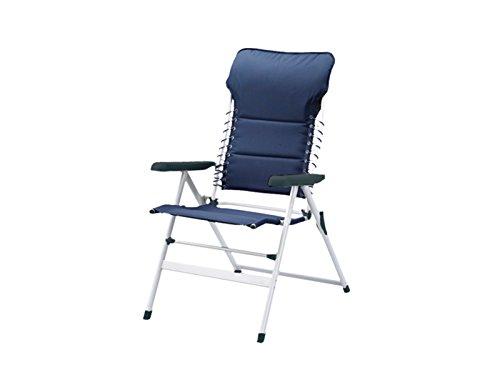 Campart Travel CH-0592 Camping Stuhl – Gepolstert – Elastikkordel – Marineblau