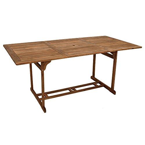 Gartentisch Akazie 90x180cm Holztisch Tisch Esstisch Gartenmöbel Balkon Terrasse